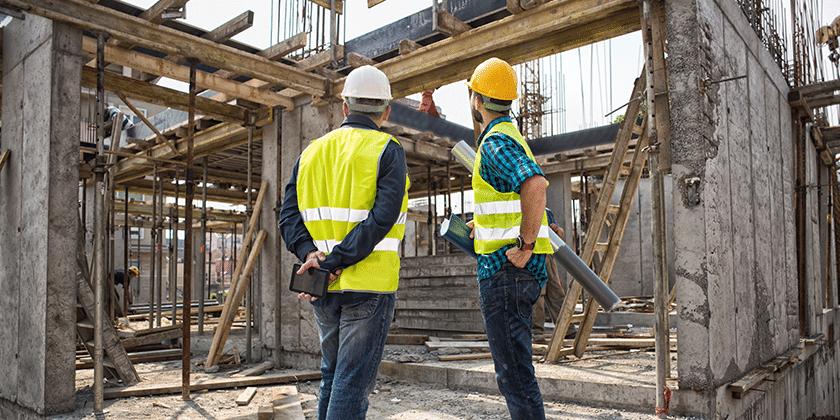 bygningskonstruktører på arbejdsplads